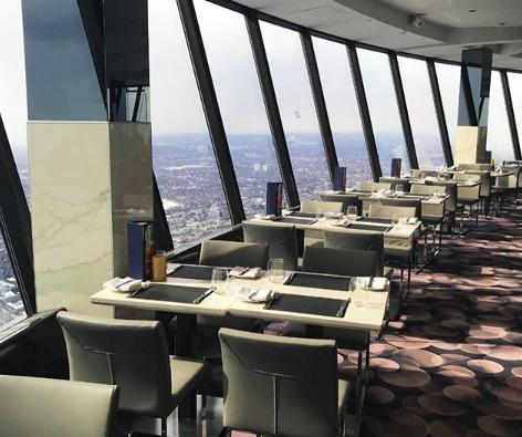 interior cn tower 360 restaurant